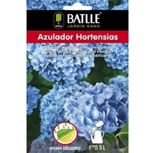 azulador hortensias sobre